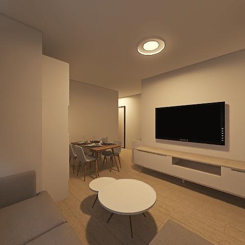 T2_19E_Separate toilet Interior Design Render