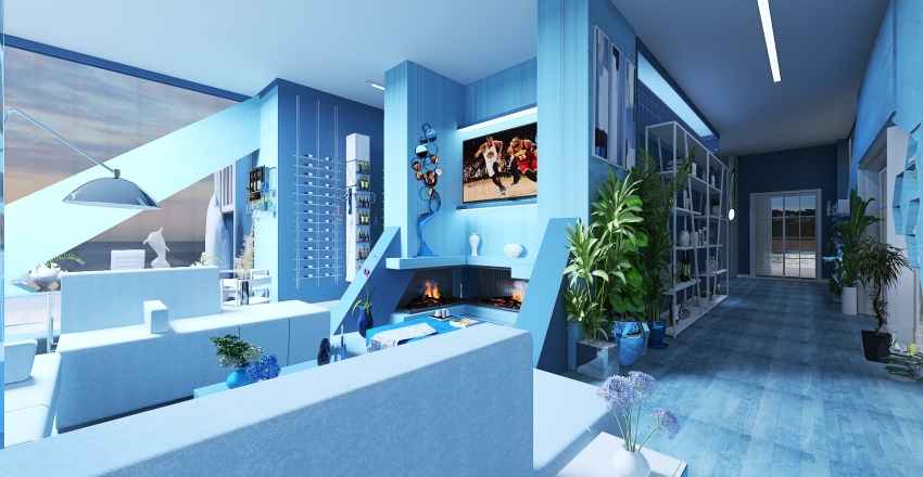 villa al mare Interior Design Render