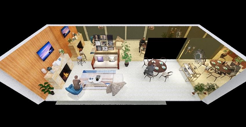 sala proyecto Interior Design Render