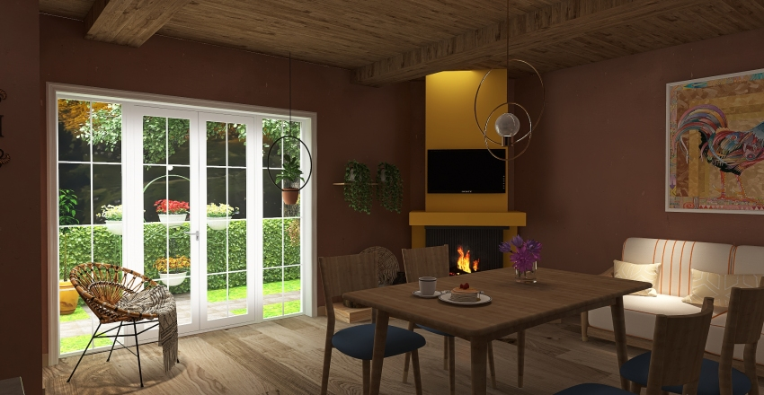 Home in Michoacán Interior Design Render