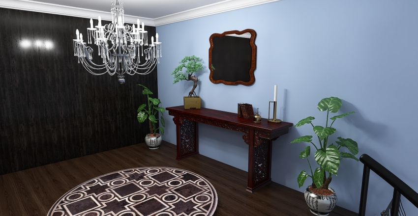 20x20 room Interior Design Render