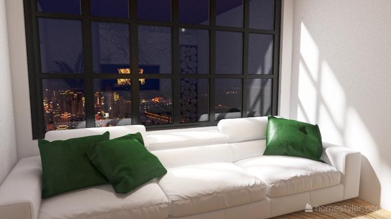 hotel living room Interior Design Render