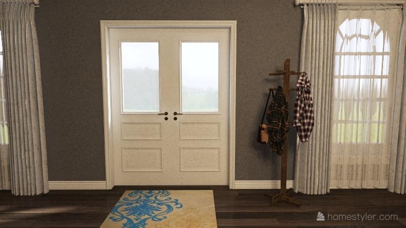 Single Level Family Home Interior Design Render