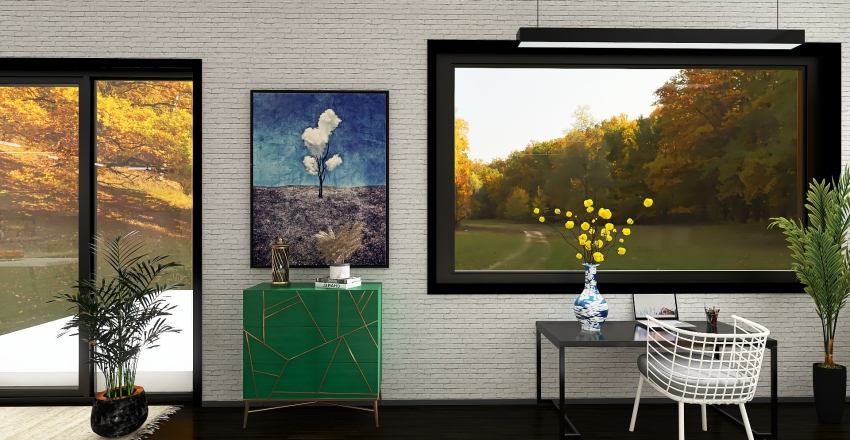Residential - Open Space Interior Design Render