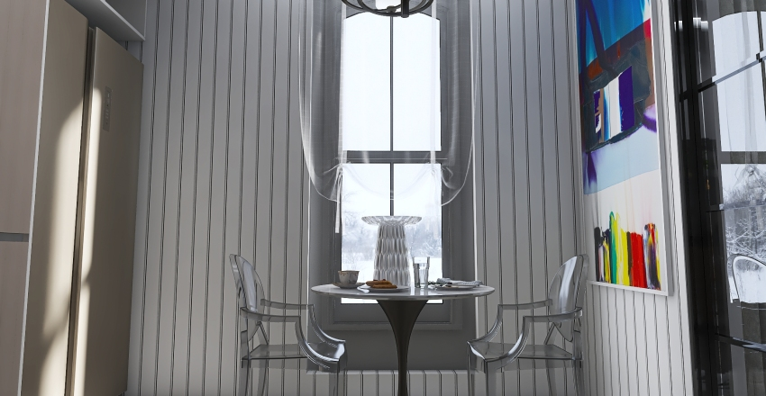 Classic Modern Interior Design Render