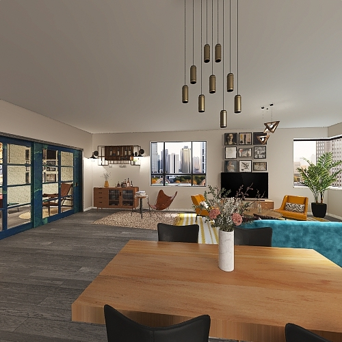 Mieszkanie zachodnie Interior Design Render