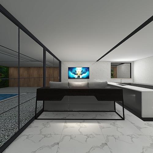 Projeto Sustentável Guaratiba Interior Design Render