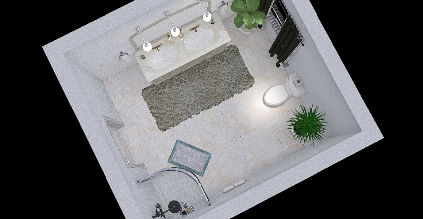 Bathroom project Interior Design Render