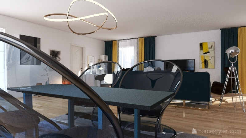 Progetto soggiorno  Interior Design Render