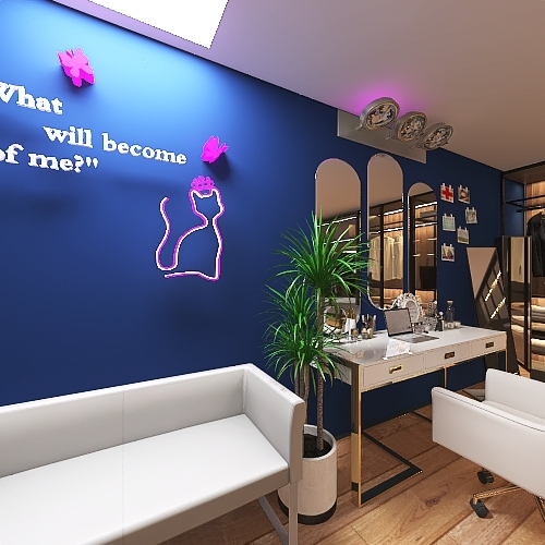 influencer dressing room Interior Design Render