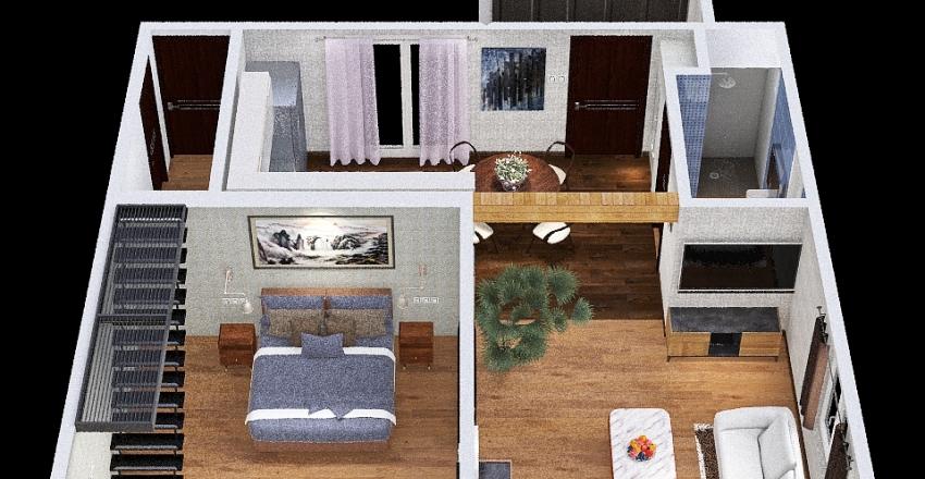 projekt mały Interior Design Render