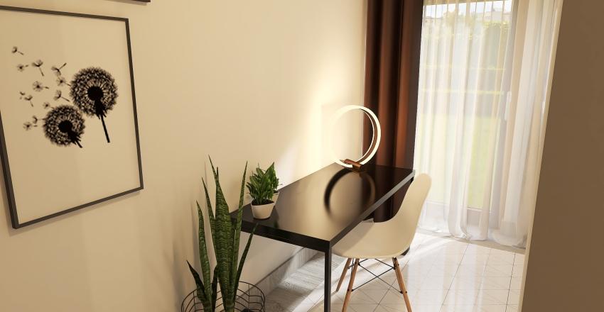 Student bedroom Interior Design Render