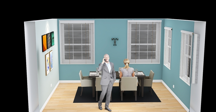 Dining Room (Final Exam) Interior Design Render