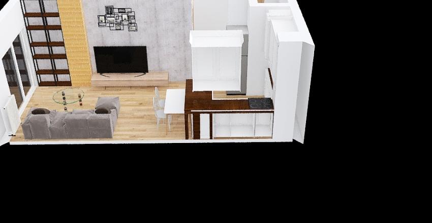 Kopalniana ze stołem Interior Design Render