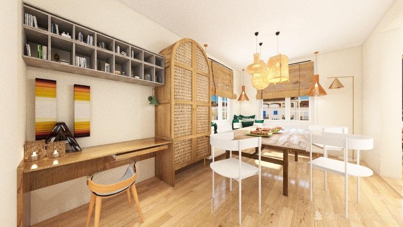 tropical get away Interior Design Render