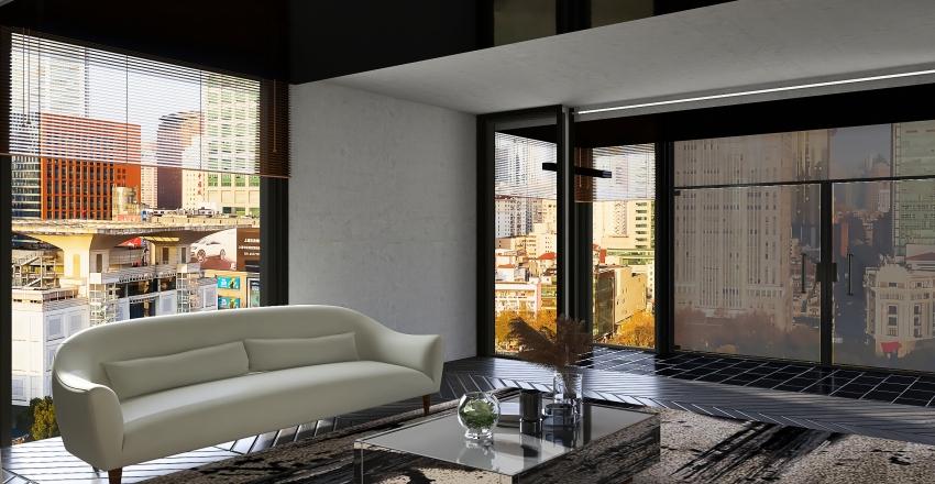 modern living space Interior Design Render