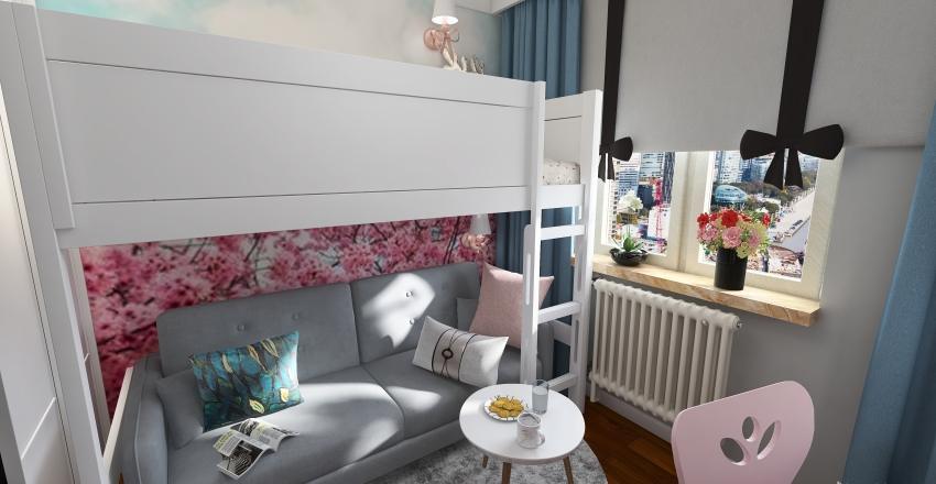 Little Princess Room Interior Design Render