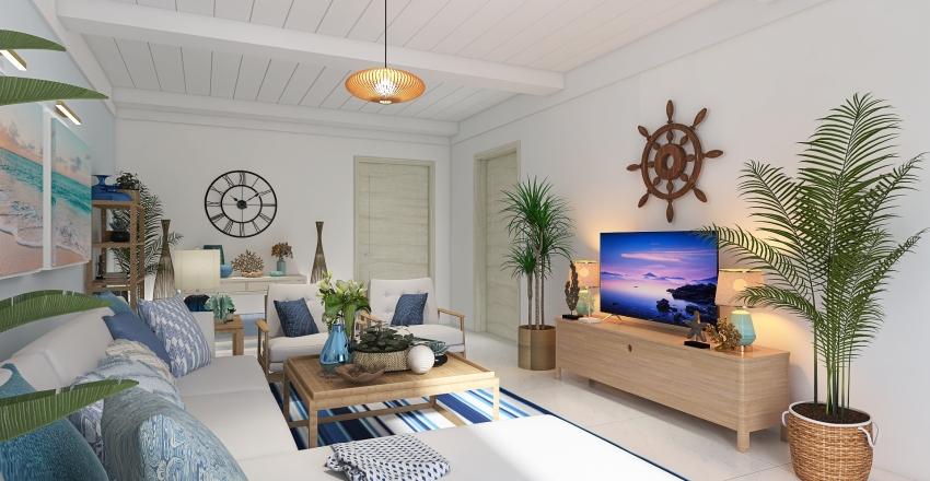 coastal living room Interior Design Render