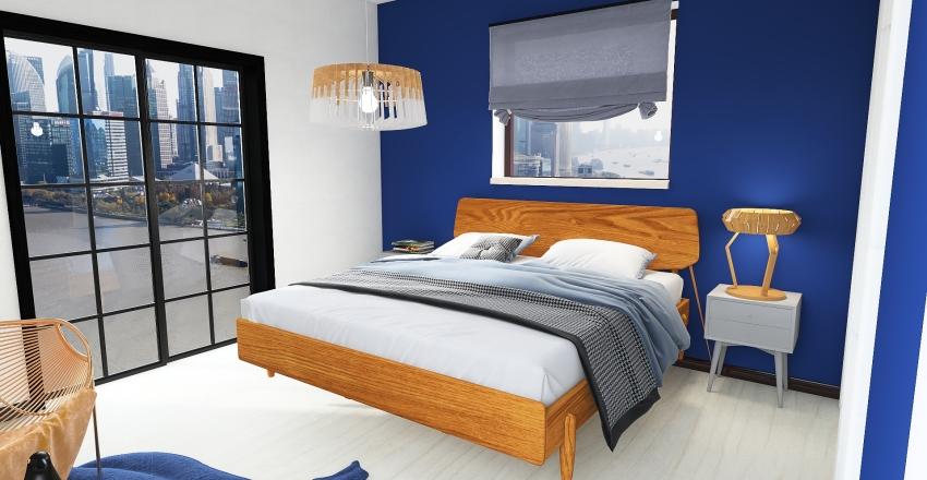 Pomieszczenie sypialniane Interior Design Render