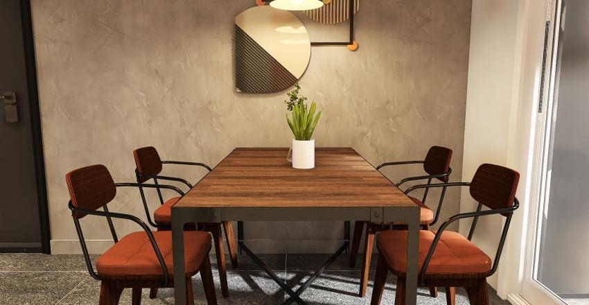 Retro Industrial Apartment Interior Design Render