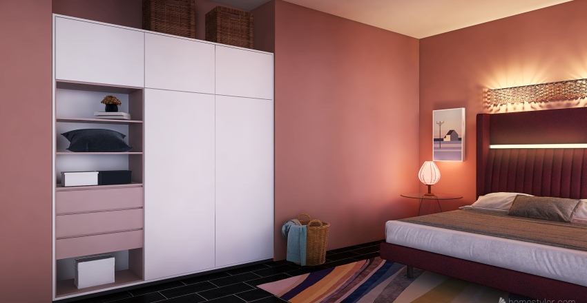 acrylic style Interior Design Render