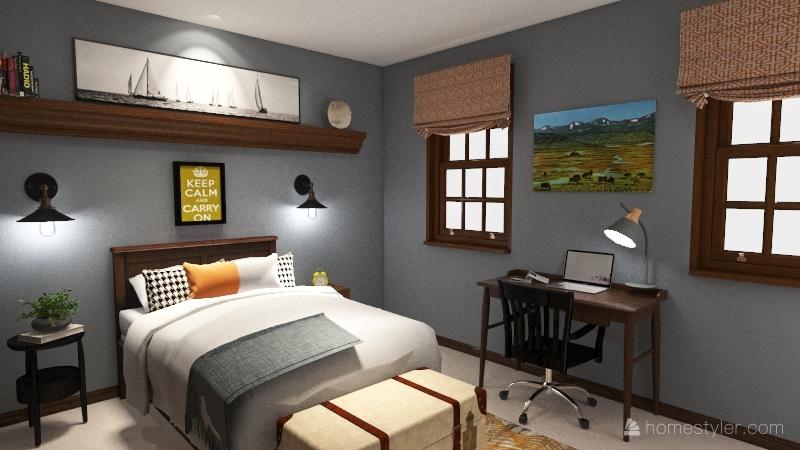 JD Bedroom Interior Design Render