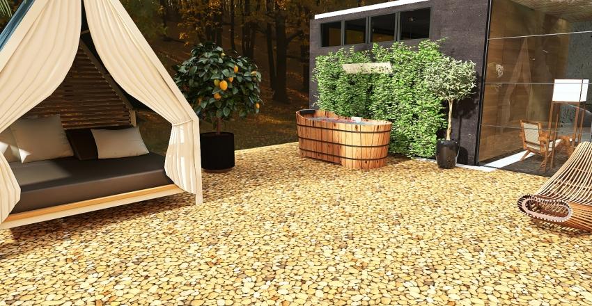 v2_Concrete House Interior Design Render
