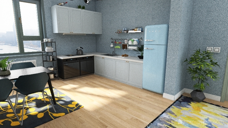 Residential - Small City Appartment Interior Design Render