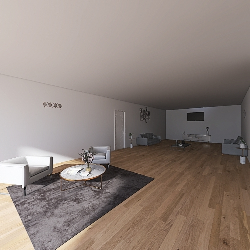 A home for three Interior Design Render