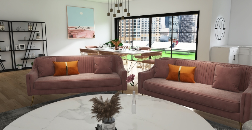 Sunset Plaza Interior Design Render