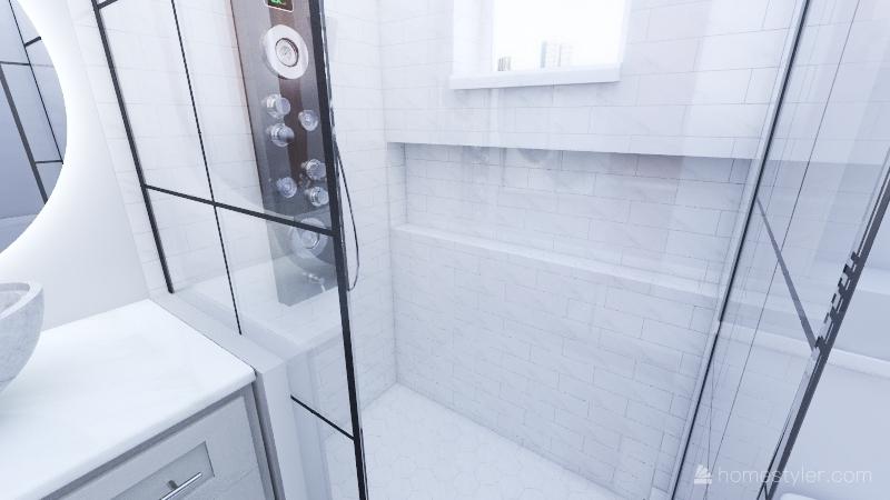 Banheiro Suite Interior Design Render