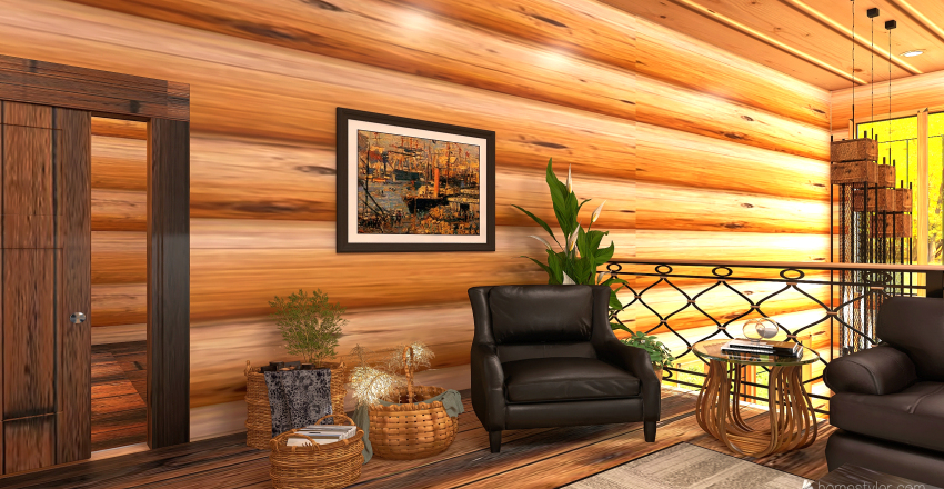 v2_CABIN HOME Interior Design Render