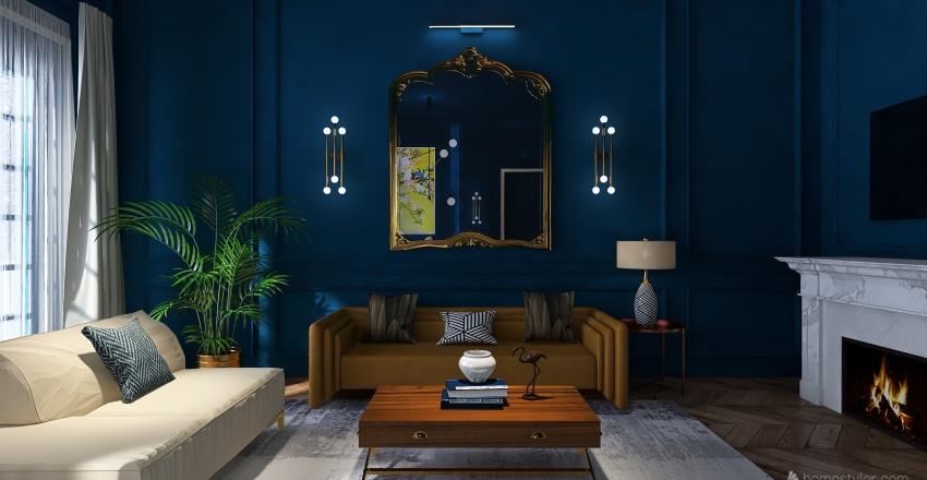 Sala Azul  Interior Design Render