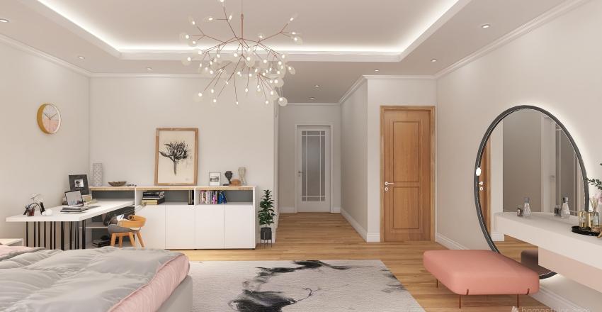 girl's bedroom Interior Design Render