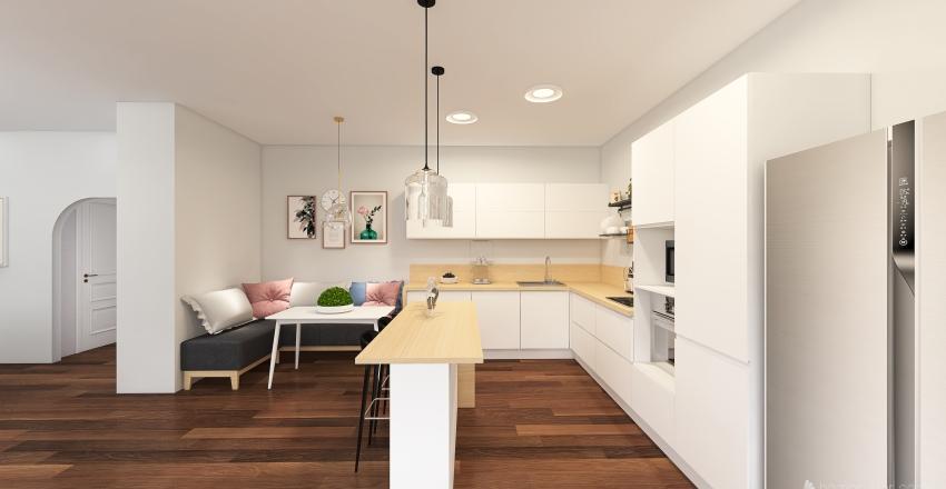 Big Ranch House Interior Design Render