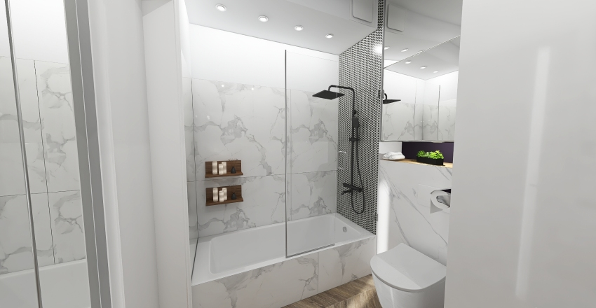 Small bathroom Interior Design Render