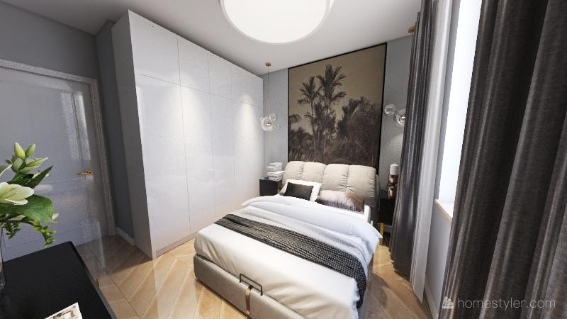 salon of inna łazienka mieszkanie jacka ani Interior Design Render