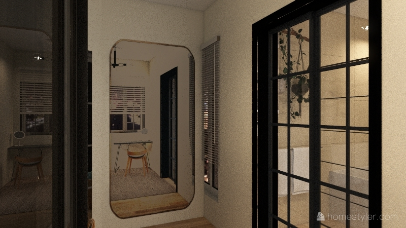 room 2 in 1 Interior Design Render