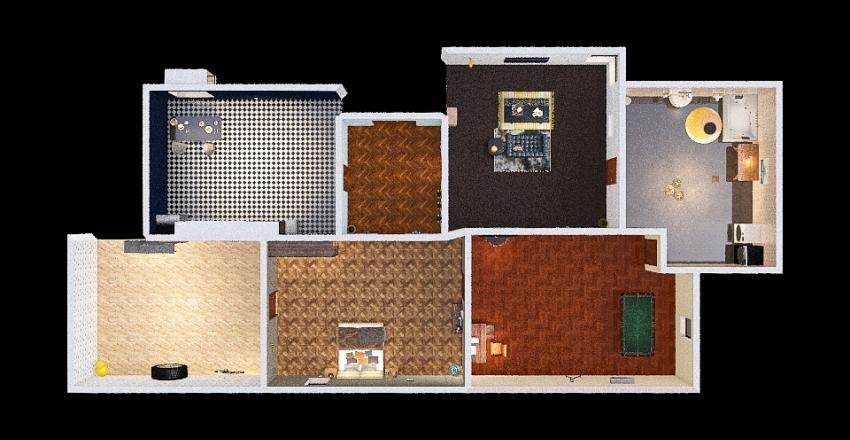 Bungalow house Interior Design Render