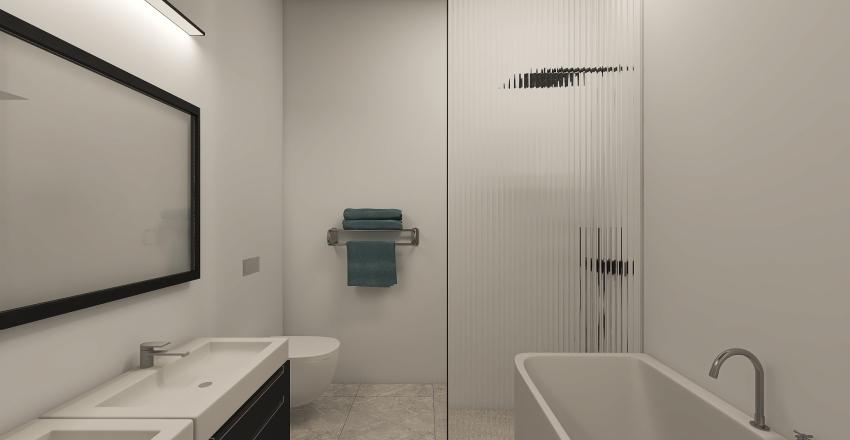 Residence at the Seaside - Bedroom  Interior Design Render