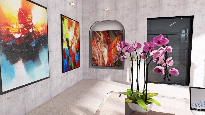 Commercial - Art  Gallery Interior Design Render