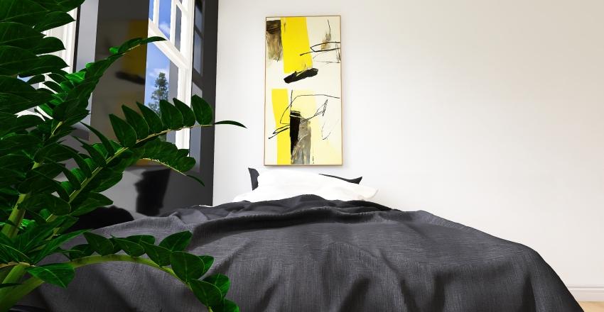 Pantone 2021 Yellow & Grey Home Interior Design Render