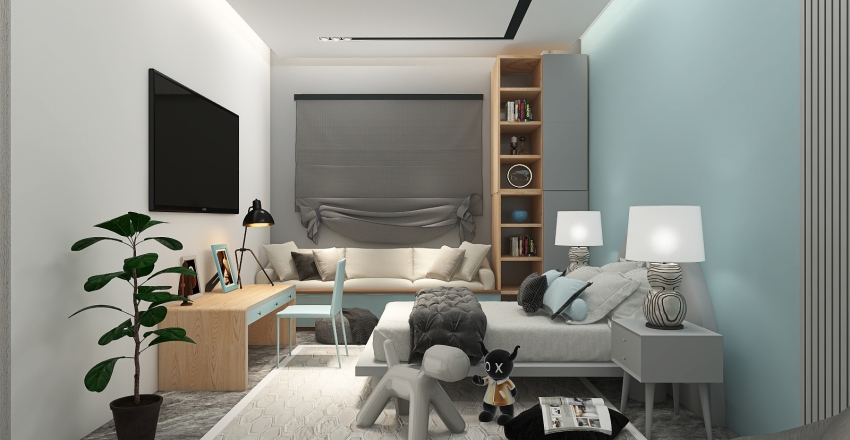 kordan room Interior Design Render
