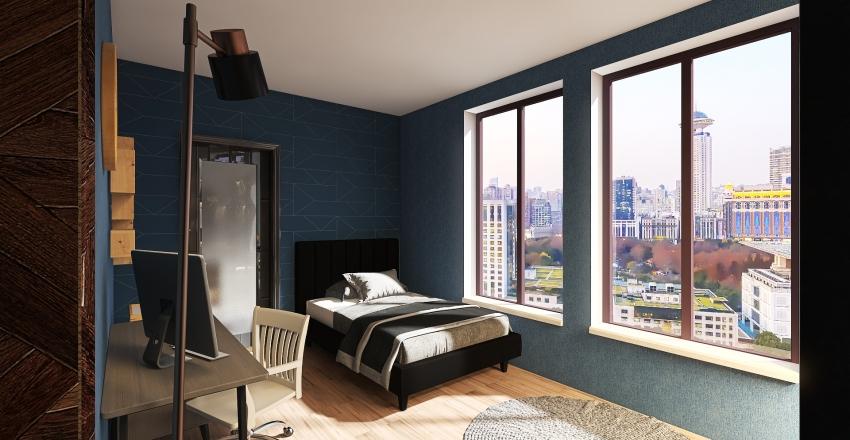 2 Bedroom Apartment Interior Design Render