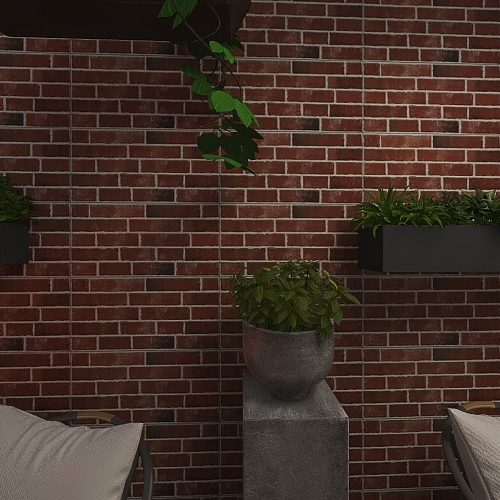 Lots of Plants Interior Design Render