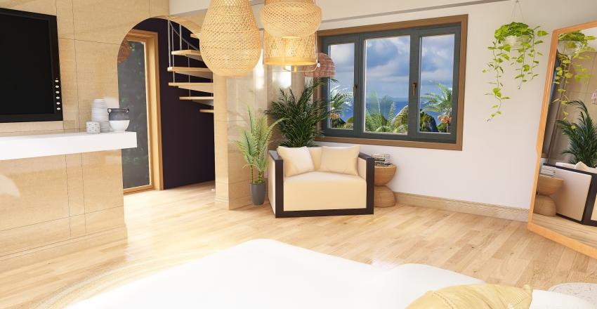 Tropical / black themed floors Interior Design Render