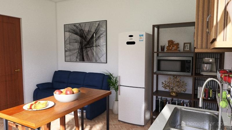 Casita 16m2 1er piso & 1/2 baño Interior Design Render