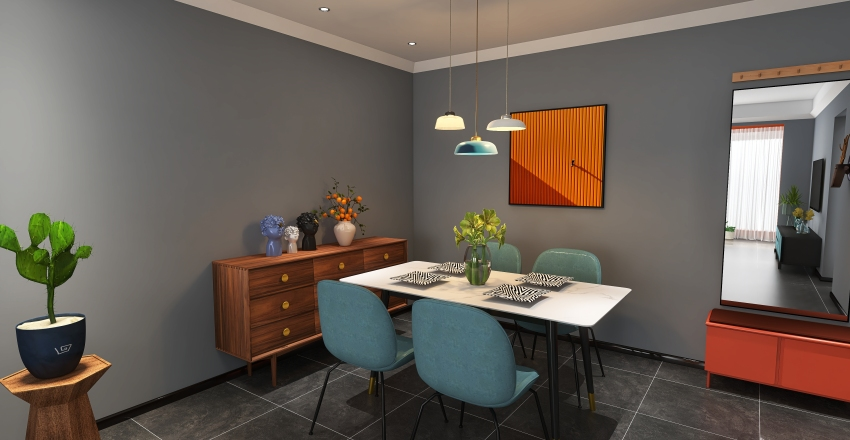 Modern Cheerful Palette11222 Interior Design Render