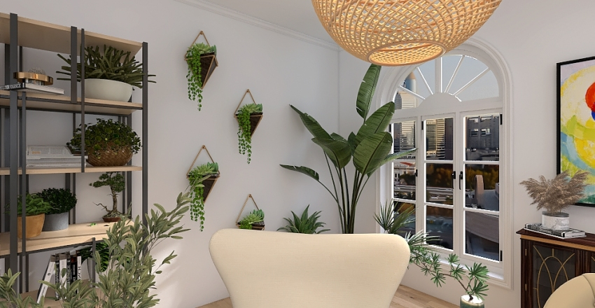 Succulent Suite Interior Design Render