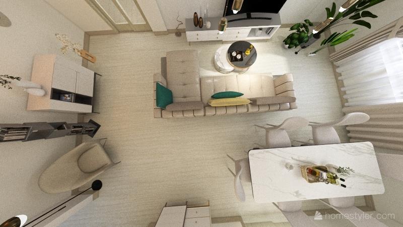 Квартира №2/1 Interior Design Render